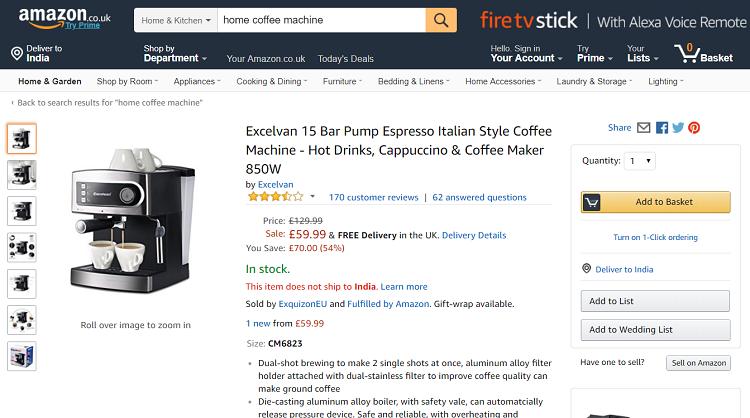 Excelvan Coffee Maker