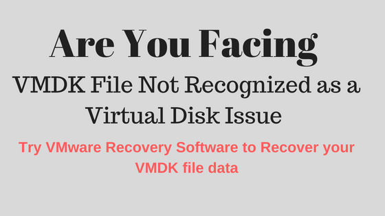 Vmware vmdk file not recognized