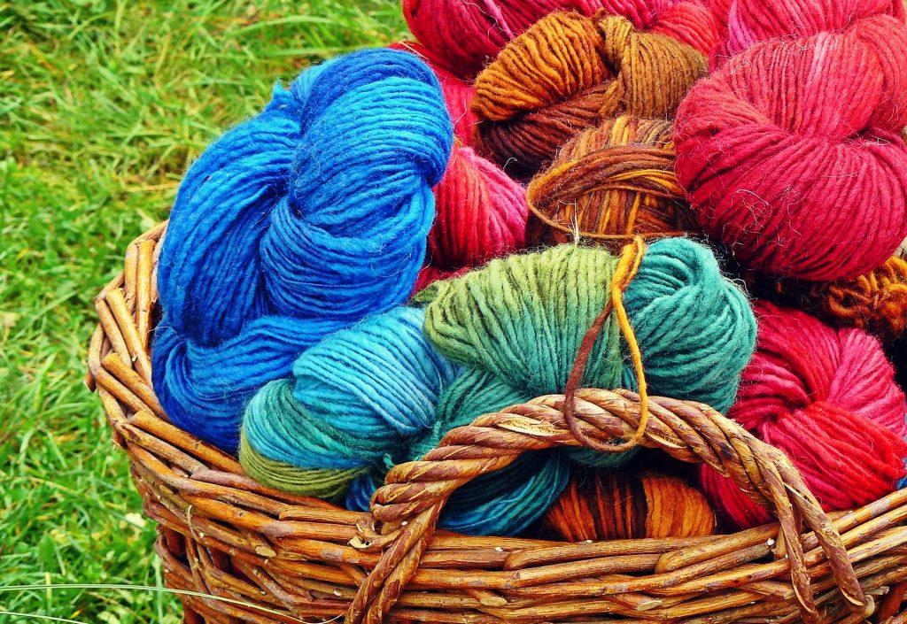 bucket of wool